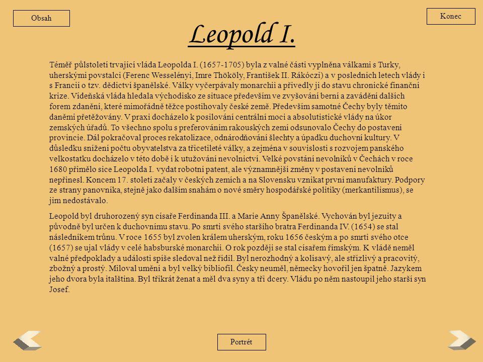 Obsah Konec. Leopold I.