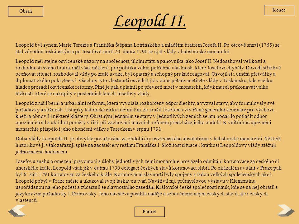 Obsah Konec. Leopold II.