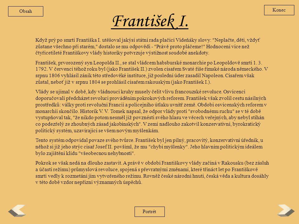 Obsah Konec. František I.