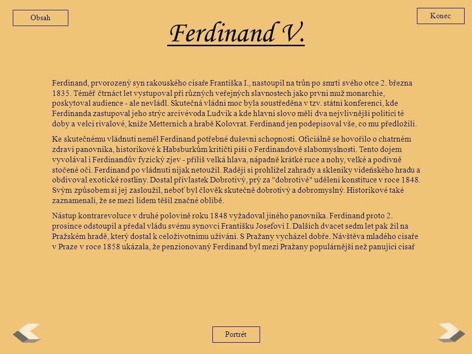 Obsah Konec. Ferdinand V.