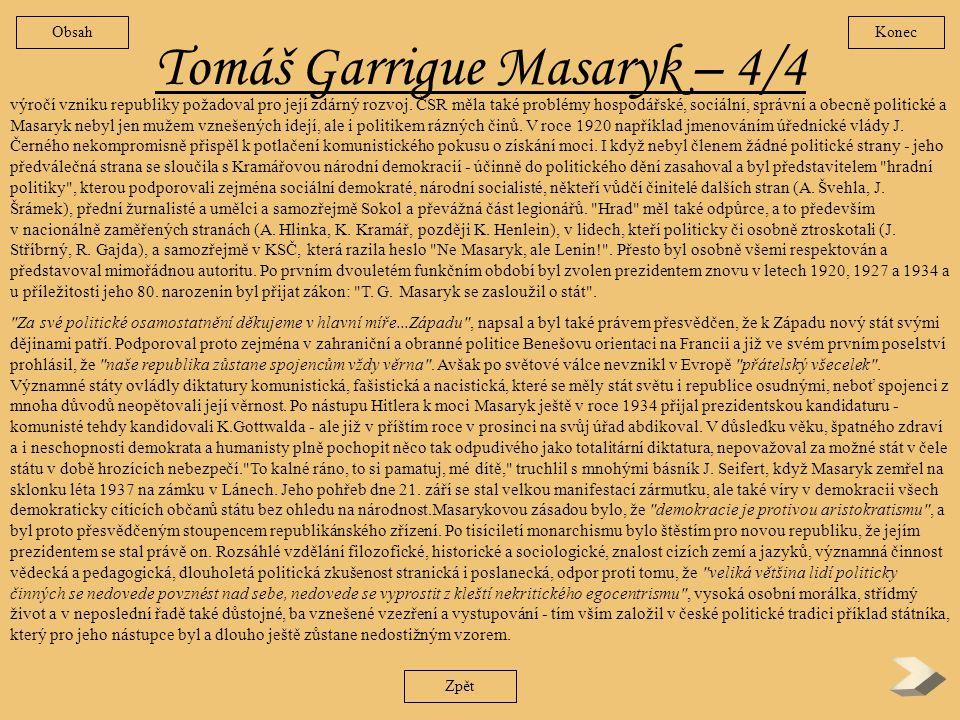 Tomáš Garrigue Masaryk – 4/4