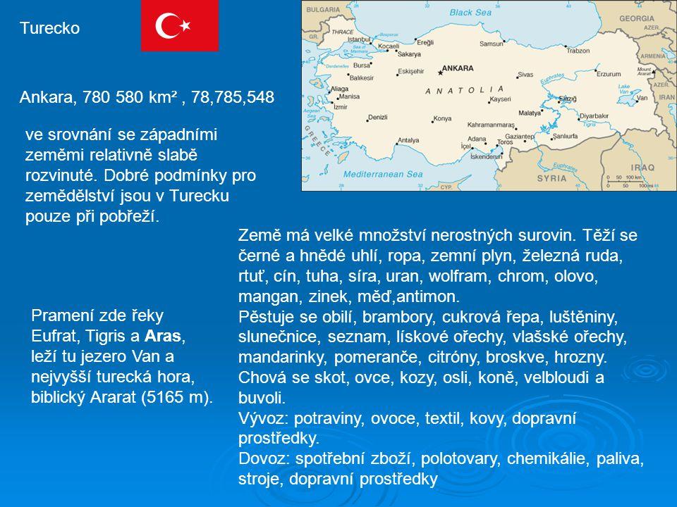 Turecko Ankara, 780 580 km² , 78,785,548.