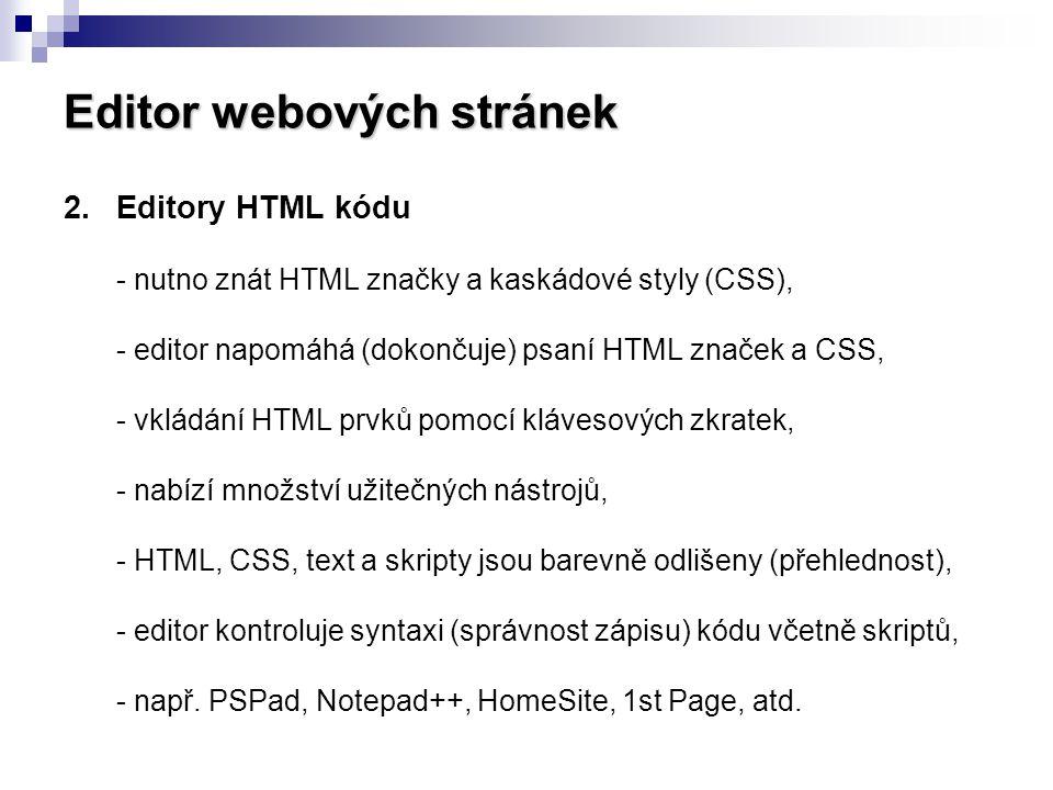 Editor webových stránek