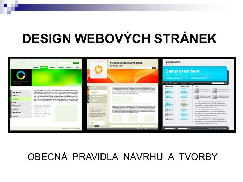 DESIGN WEBOVÝCH STRÁNEK
