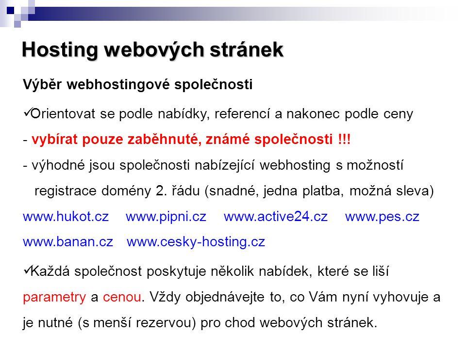 Hosting webových stránek