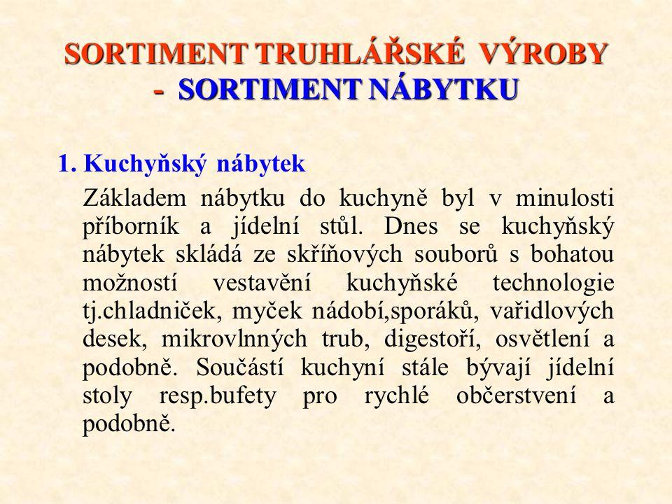 SORTIMENT TRUHLÁŘSKÉ VÝROBY - SORTIMENT NÁBYTKU