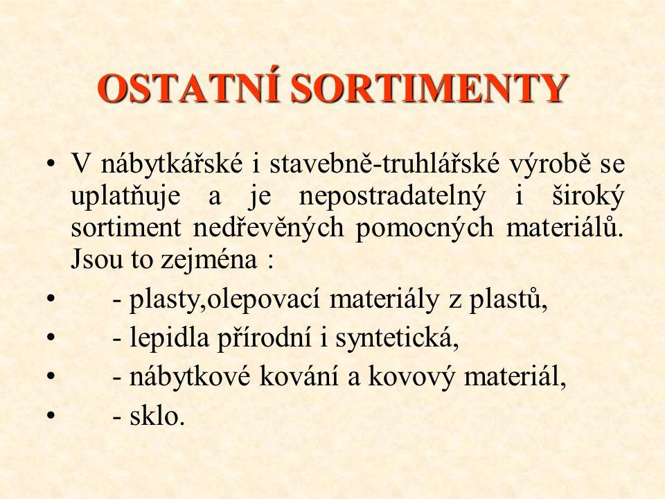 OSTATNÍ SORTIMENTY