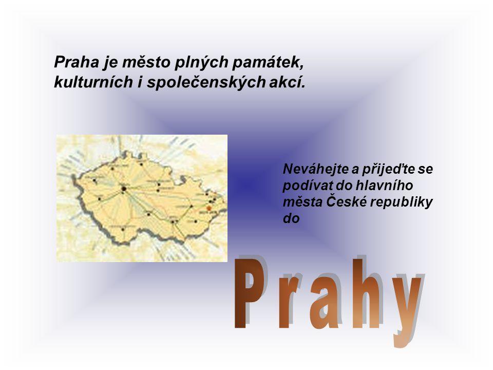 Prahy Praha je město plných památek, kulturních i společenských akcí.
