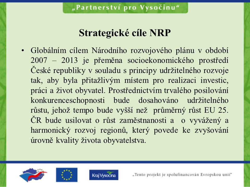 Strategické cíle NRP