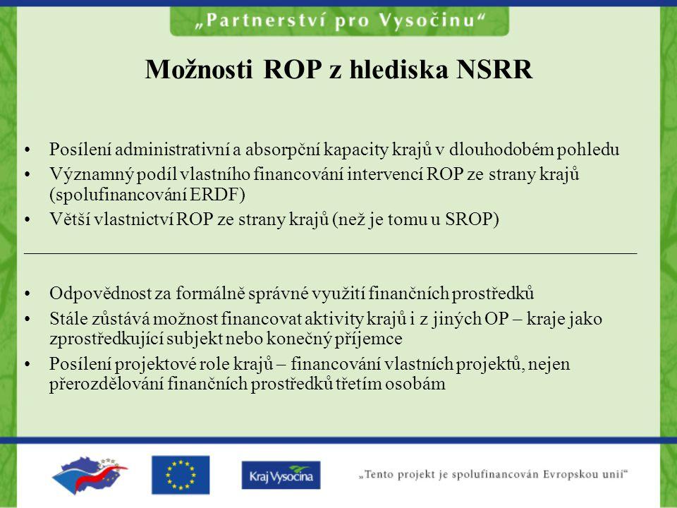 Možnosti ROP z hlediska NSRR