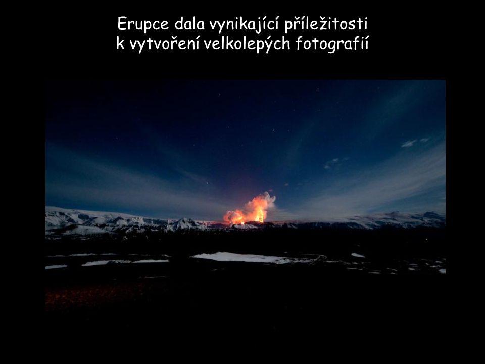 Erupce dala vynikající příležitosti k vytvoření velkolepých fotografií