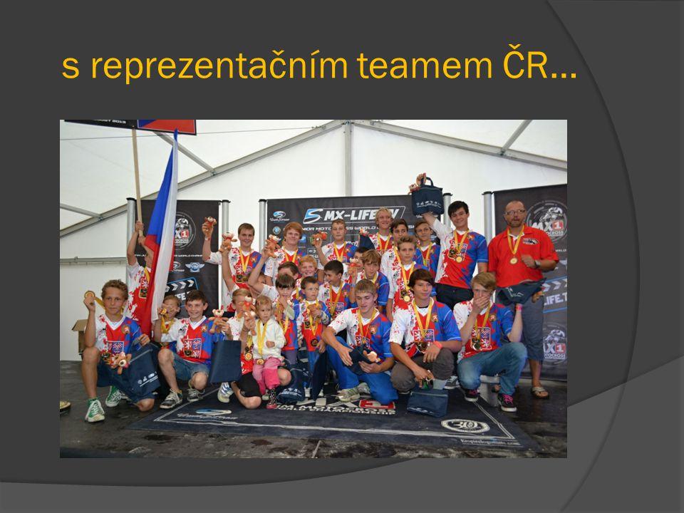 s reprezentačním teamem ČR…