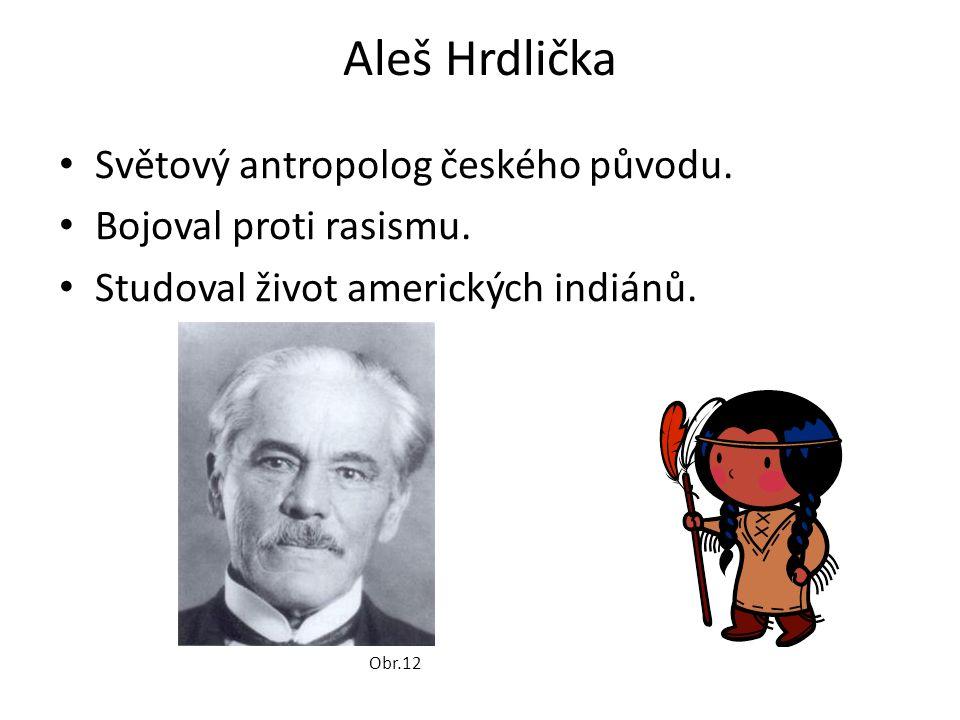 Aleš Hrdlička Světový antropolog českého původu.