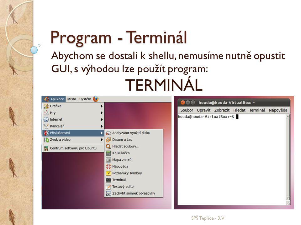 Program - Terminál TERMINÁL