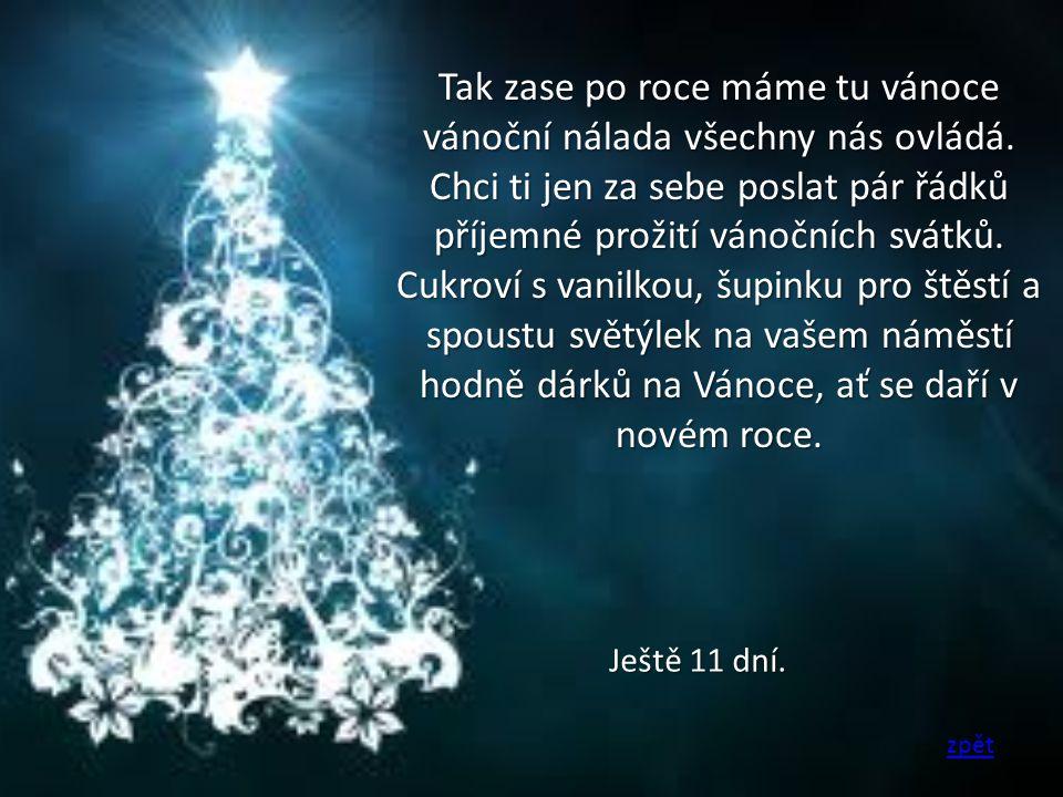 Tak zase po roce máme tu vánoce vánoční nálada všechny nás ovládá