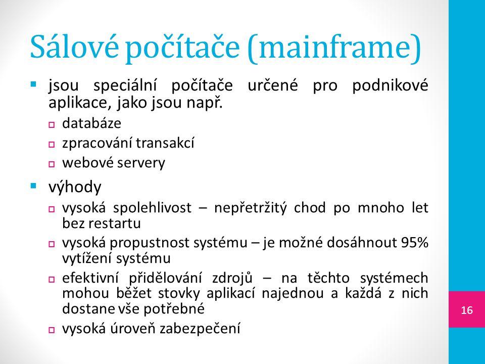 Sálové počítače (mainframe)