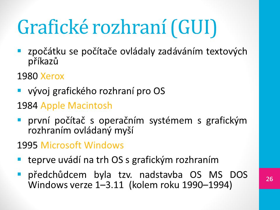 Grafické rozhraní (GUI)