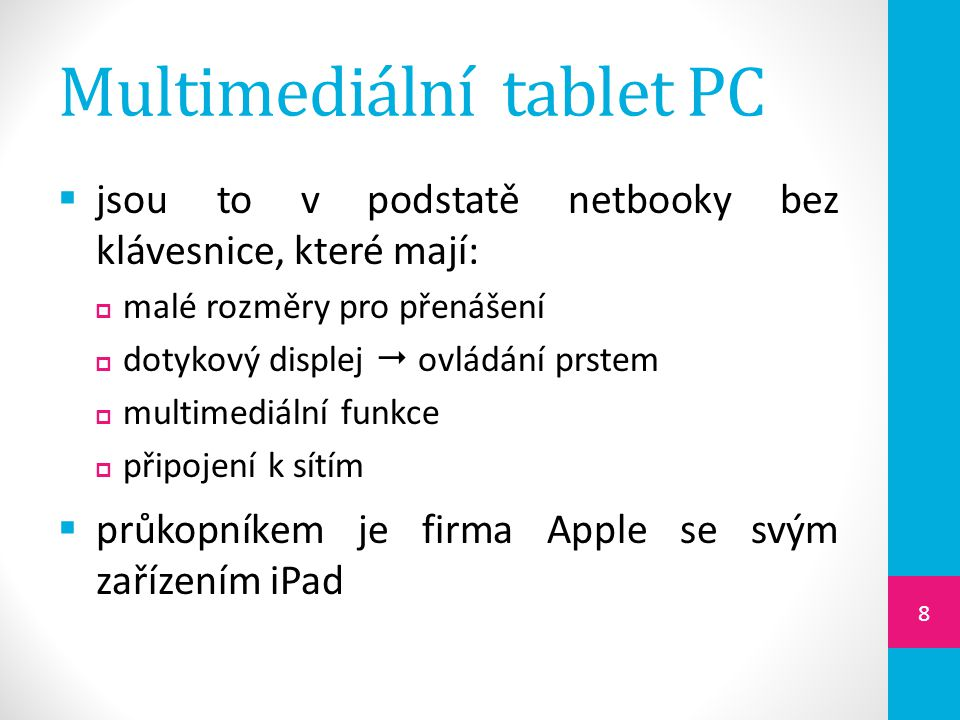 Multimediální tablet PC