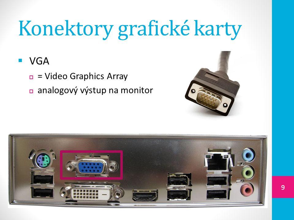 Konektory grafické karty
