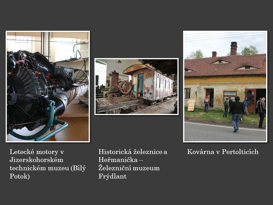 Letecké motory v Jizerskohorském technickém muzeu (Bílý Potok)