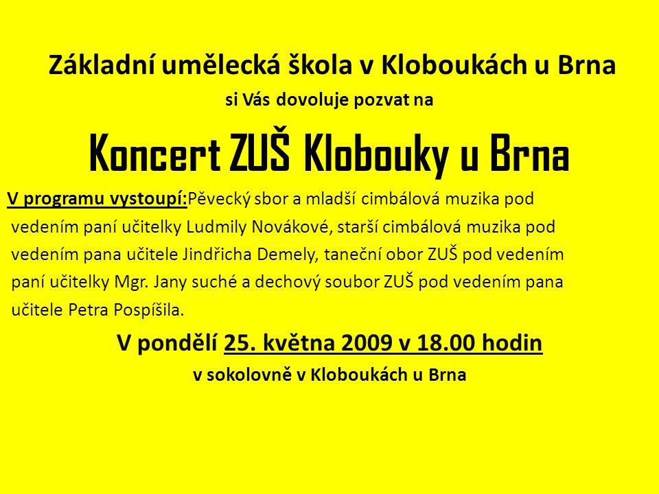 Koncert ZUŠ Klobouky u Brna