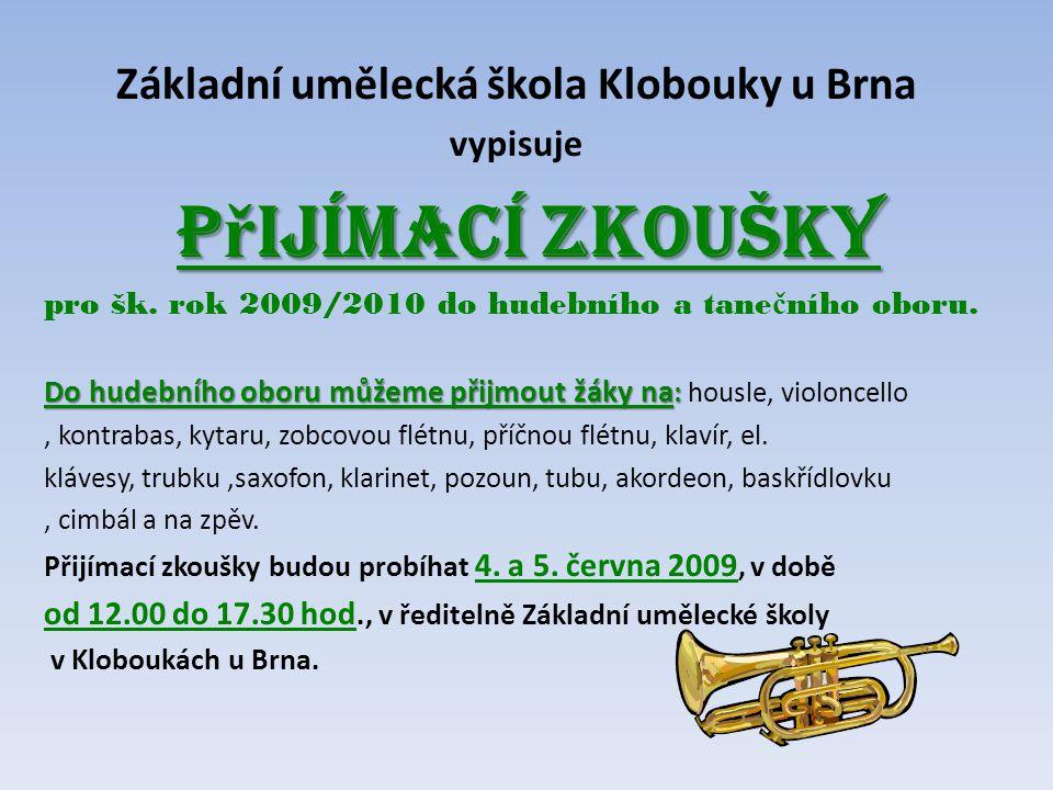 Základní umělecká škola Klobouky u Brna
