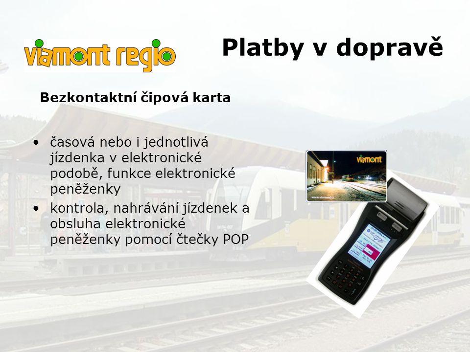 Platby v dopravě Bezkontaktní čipová karta