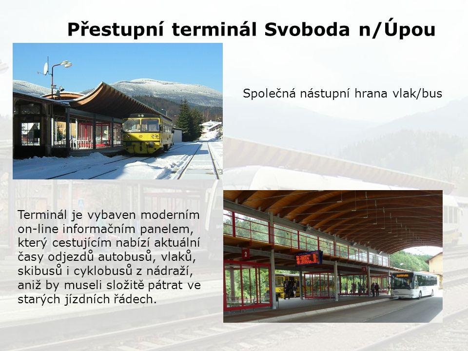 Společná nástupní hrana vlak/bus