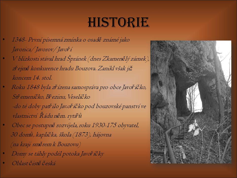 Historie 1348- První písemná zmínka o osadě známé jako