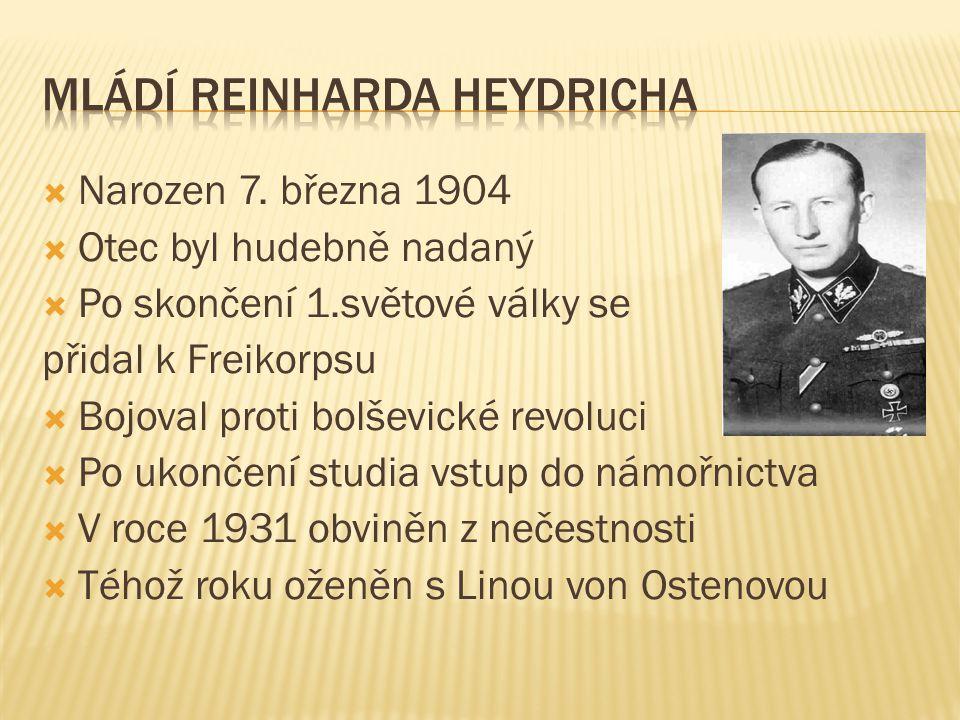 Mládí Reinharda Heydricha