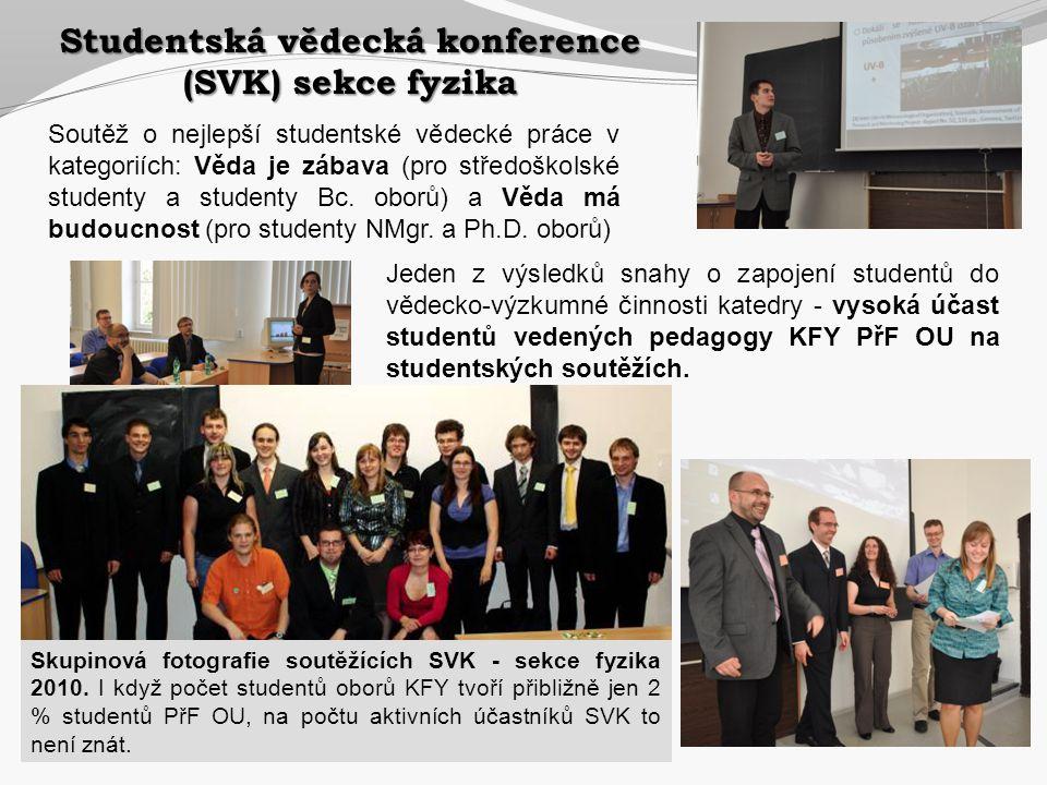 Studentská vědecká konference (SVK) sekce fyzika