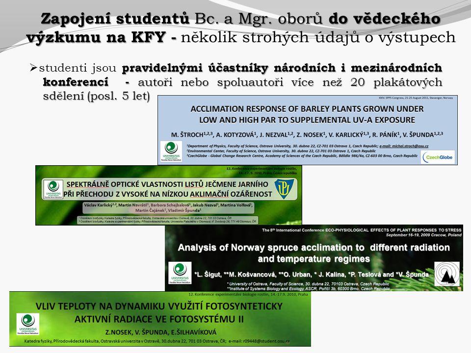 Zapojení studentů Bc. a Mgr