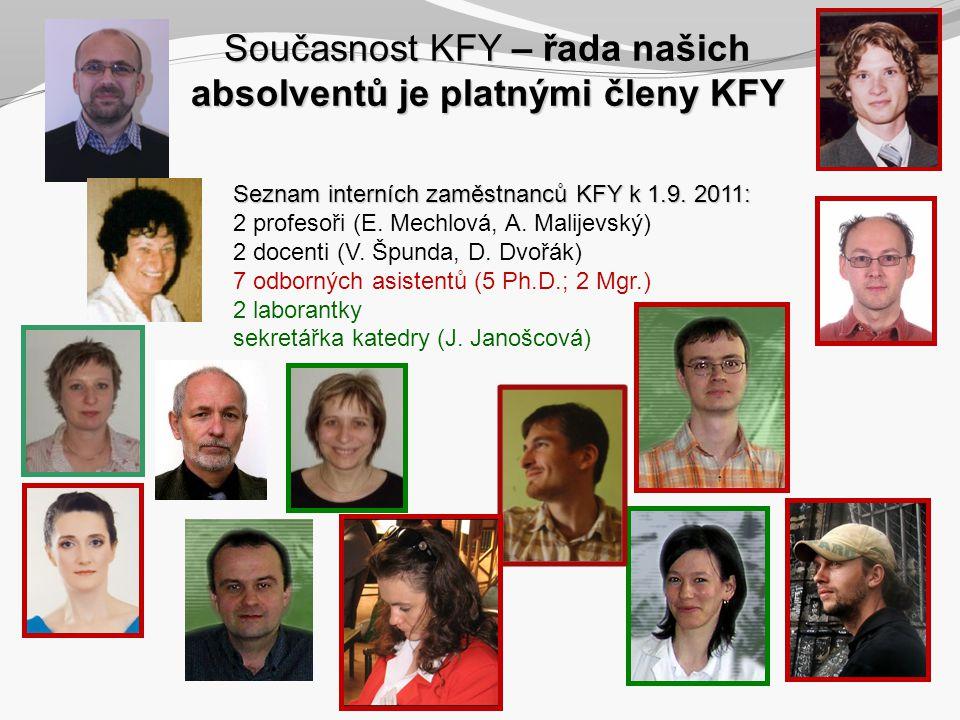 Současnost KFY – řada našich absolventů je platnými členy KFY