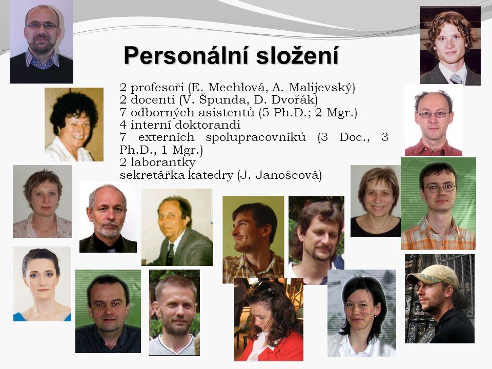Personální složení 2 profesoři (E. Mechlová, A. Malijevský)