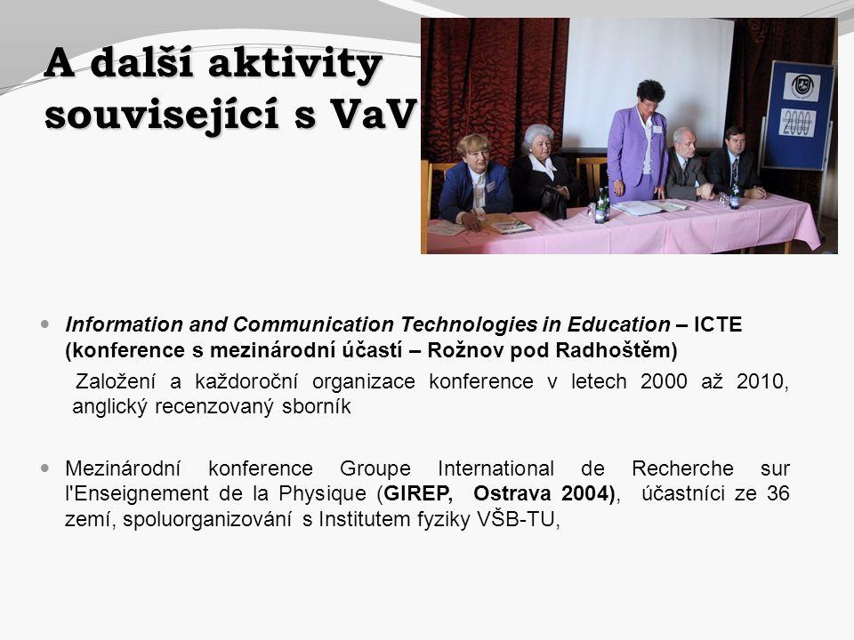A další aktivity související s VaV