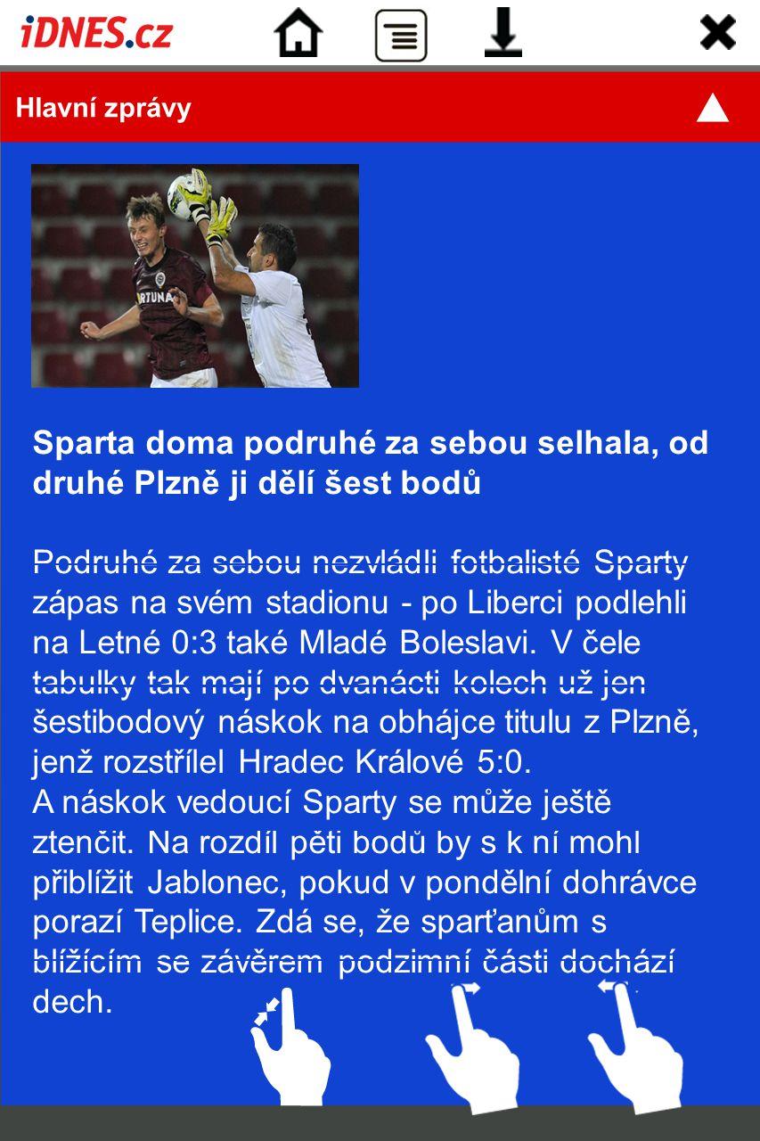 Sparta doma podruhé za sebou selhala, od druhé Plzně ji dělí šest bodů