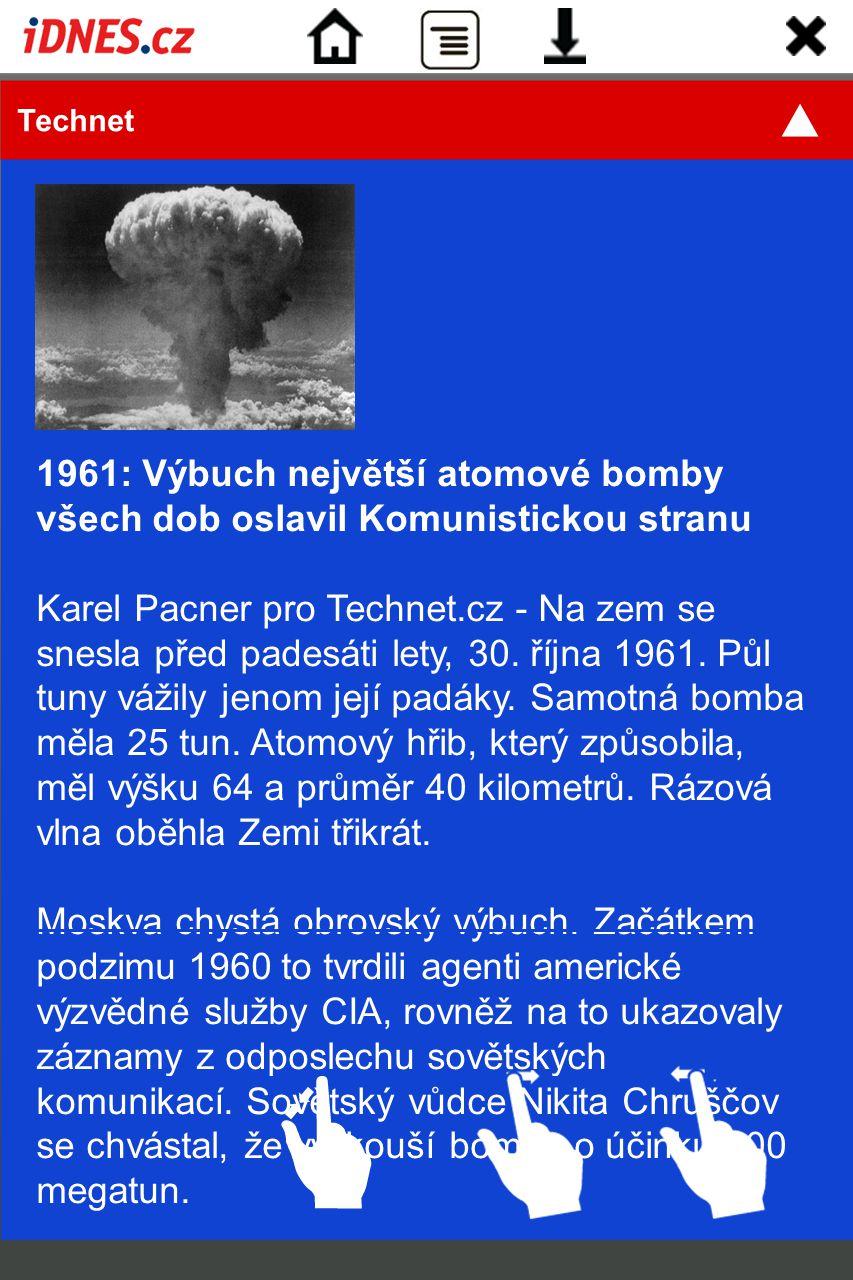 Technet 1961: Výbuch největší atomové bomby všech dob oslavil Komunistickou stranu.