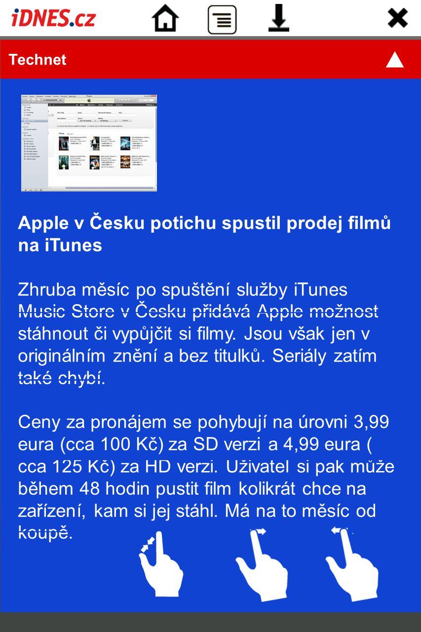 Apple v Česku potichu spustil prodej filmů na iTunes