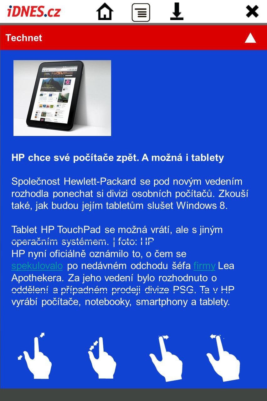 HP chce své počítače zpět. A možná i tablety
