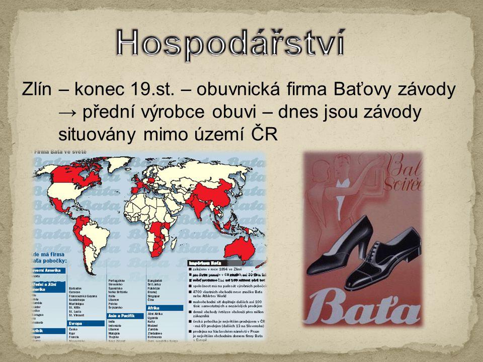 Hospodářství Zlín – konec 19.st. – obuvnická firma Baťovy závody
