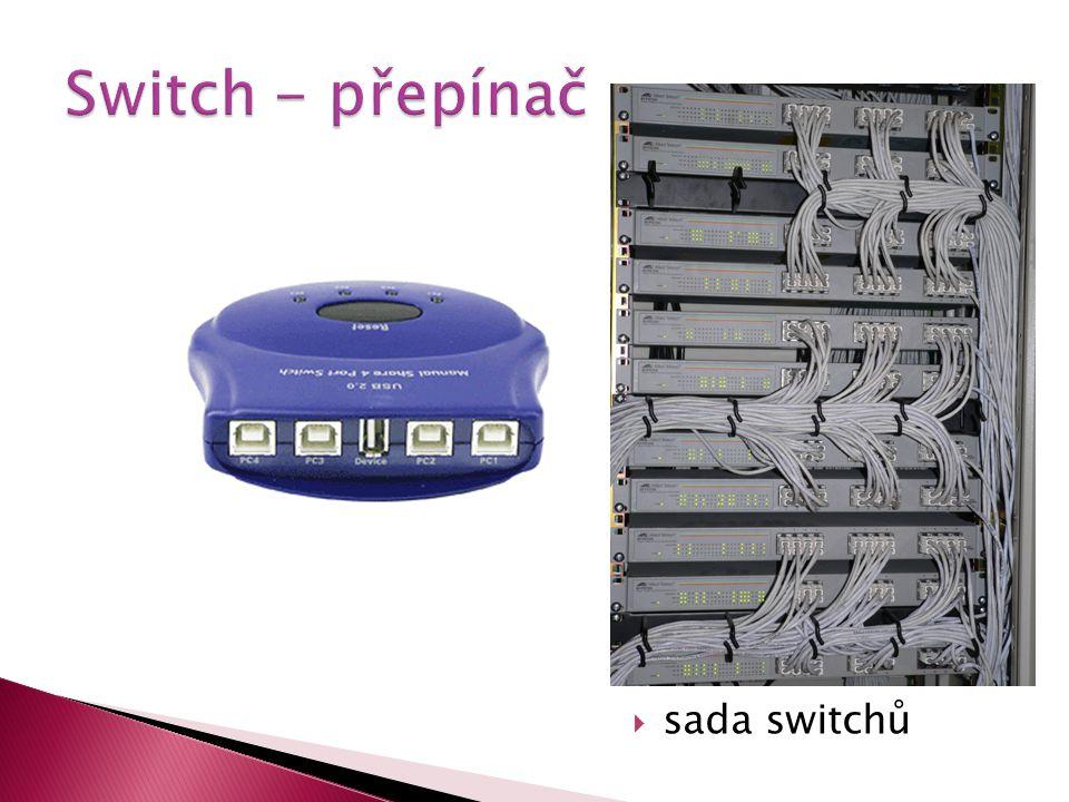 Switch - přepínač sada switchů
