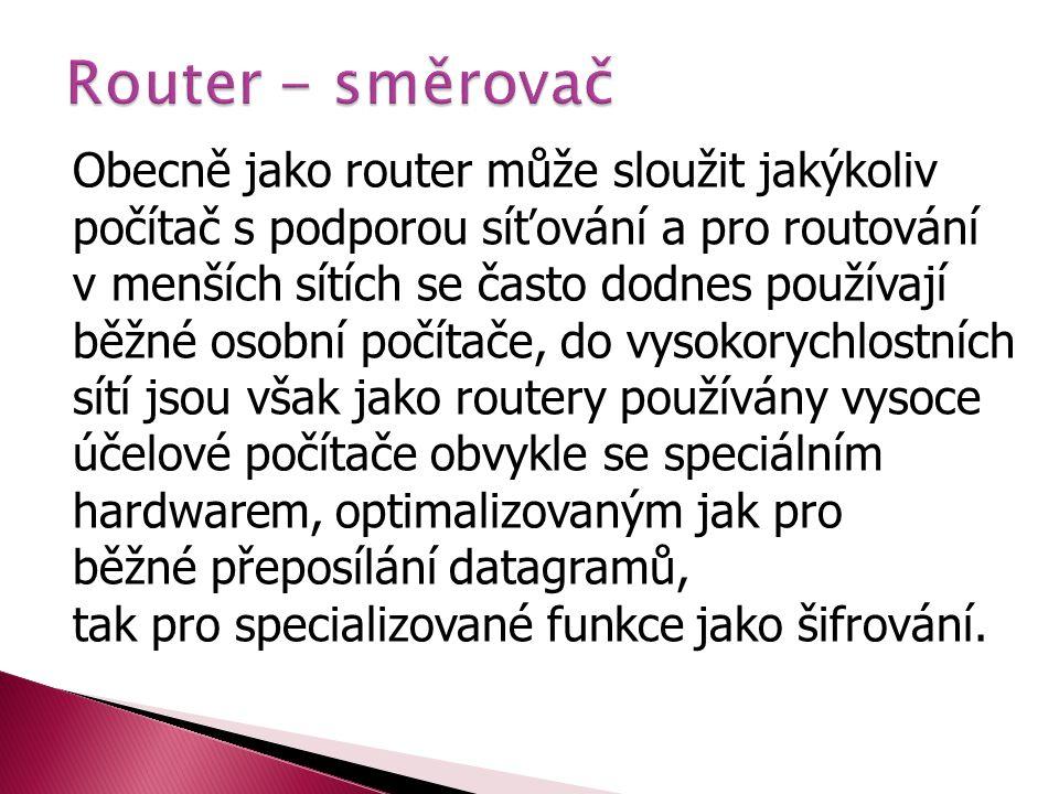 Router - směrovač