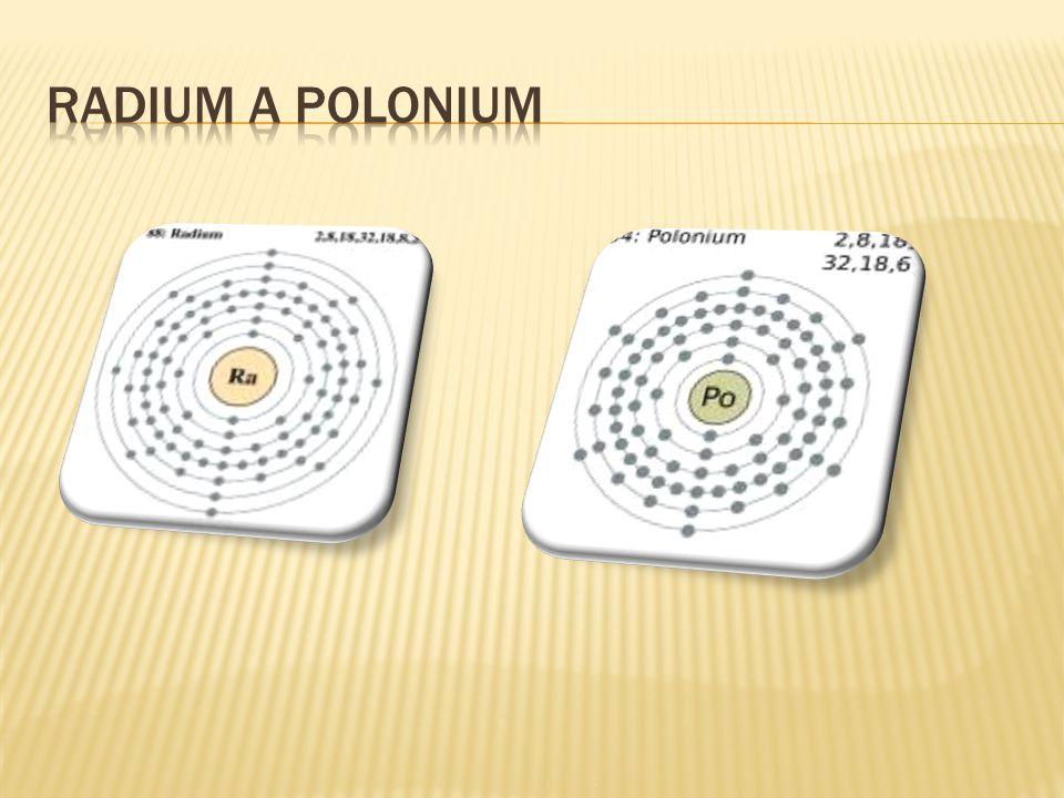 Radium a polonium