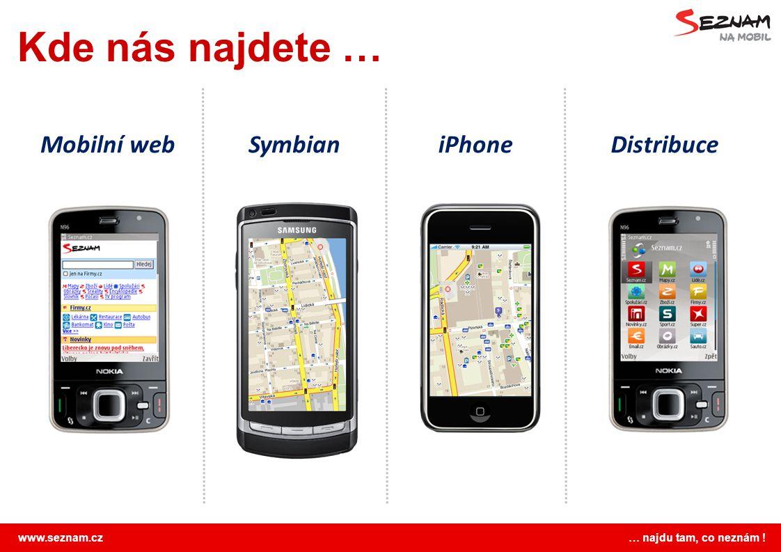 Kde nás najdete … Mobilní web Symbian iPhone Distribuce