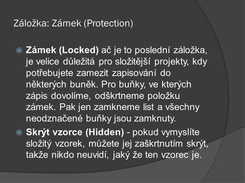Záložka: Zámek (Protection)