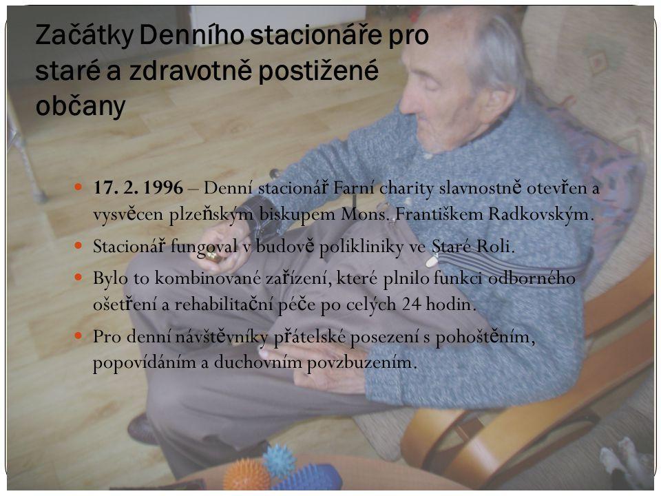 Začátky Denního stacionáře pro staré a zdravotně postižené občany