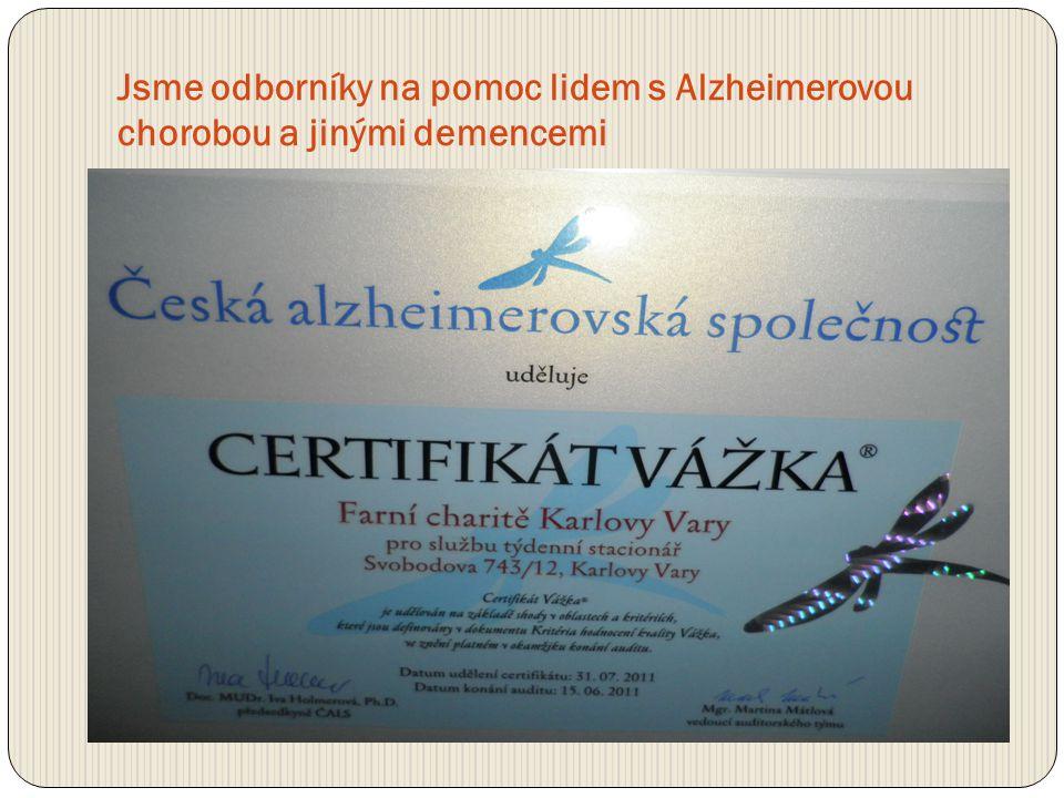 Jsme odborníky na pomoc lidem s Alzheimerovou chorobou a jinými demencemi