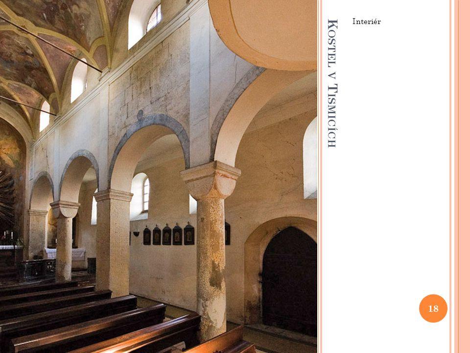 Interiér Kostel v Tismicích