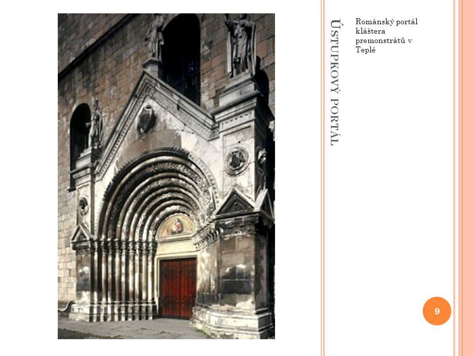Románský portál kláštera premonstrátů v Teplé
