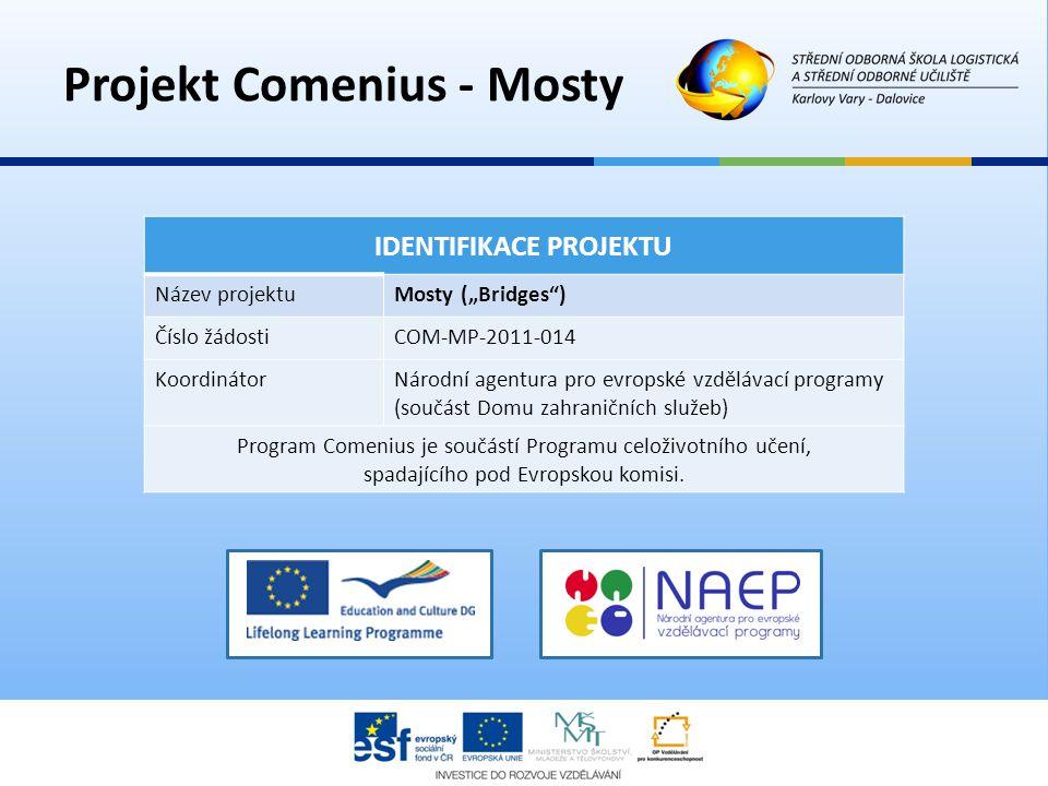 Projekt Comenius - Mosty